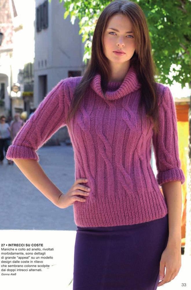 Свитера женские вязание которых так любят рукодельницы, могут иметь совершенно разный вид за счет узоров