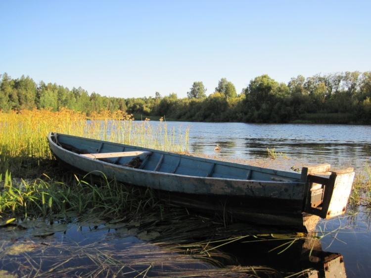 моторная лодка на мелких реках