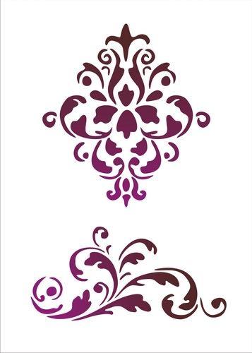 Трафареты узоров для декора шаблоны