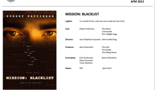 Robert Pattinson, Mission:Blacklist