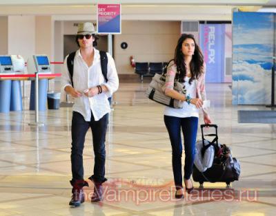 Йен и Нина покидают LAX [7 июля]