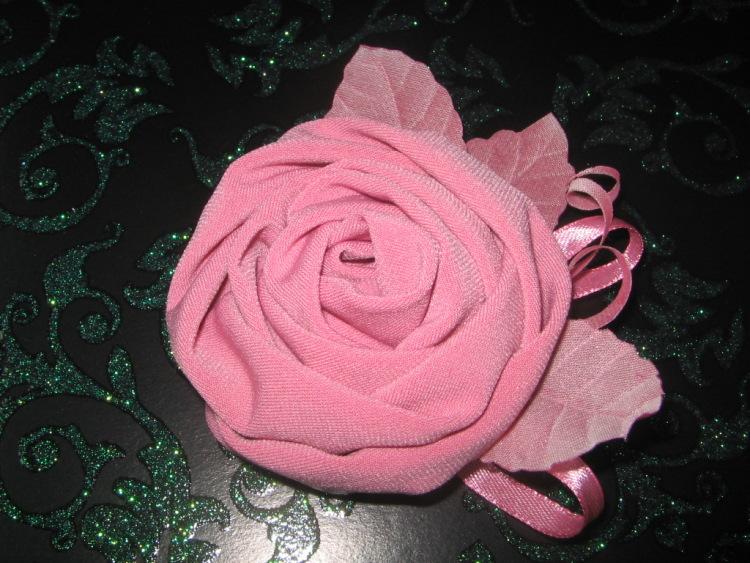 Розы на платье из ткани своими руками фото и 31
