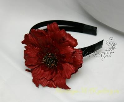 Я создаю цветы из кожи, меха, ткани.  Хочу представить Вам некоторые из...