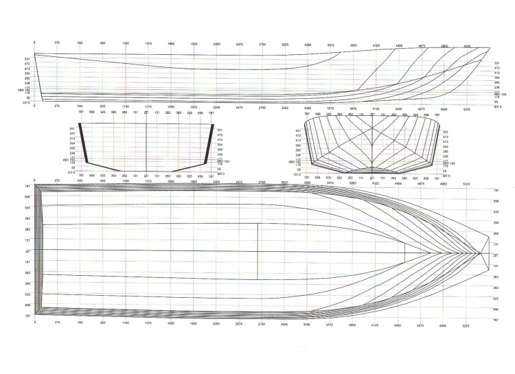 чертеж лодки из амг