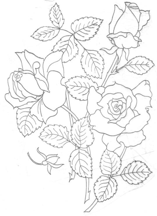 Описание: Схемы вышивки розы гладью.
