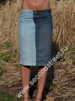 переделка джинс в юбку.