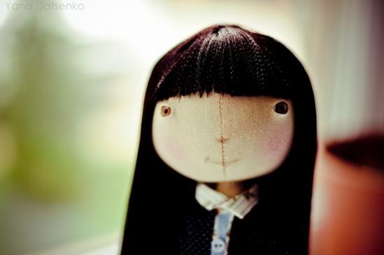 Эта кукла сшита на основе выкройки тыквоголовки.  В следующих переделаю выкройку ног, а именно в районе...