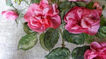 Чем красить ленты для вышивки 87
