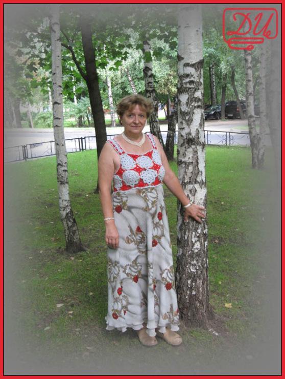 """Платье в винтажном стиле (PiuBella).  Фотолента.  Сарафан  """"Розы в..."""