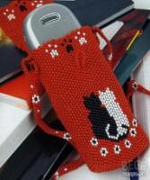 Мастер класс - чехол из бисера для телефона в качестве декоративного...