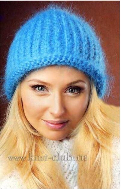 Рубрика Вязаные зимние шапки, Женские шапки спицами. себе новую оригинальную шапочку для этой зимы, из пряжи травка