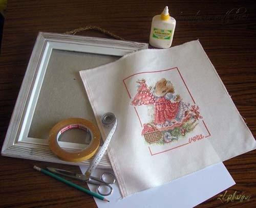 Оформить вышивку в рамку своими руками с фото