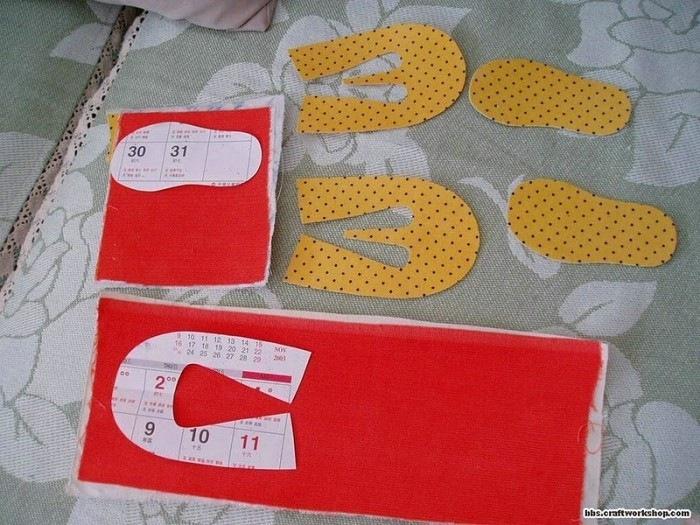 Тапочки для ребенка своими руками фото