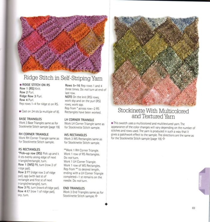 Entrelac Knitting Pattern Books : Arts and craft books: Entrelac knitting magazine ~ Craft ...