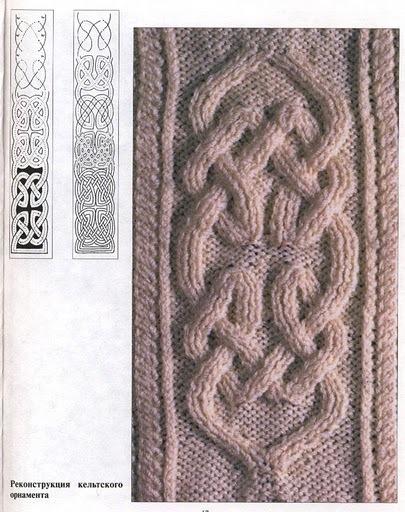 Кельтские узоры в вязании