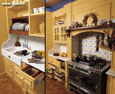прованс, кухни в деревенском стиле.