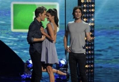 Йен, Нина и Пол на премий Teen Choice Awards 2011