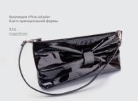 Оригинальный клатч украшенный бантом.  Коллекция Pina colada.  Черный.