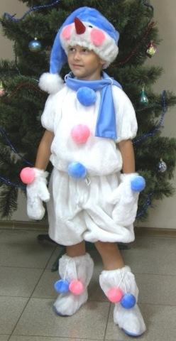 Новогодний костюм для мальчика снеговик своими руками