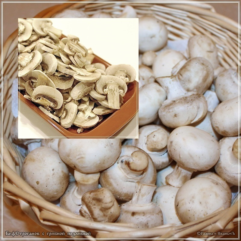 Говядина с грибной подливкой по мотивам бефстроганова