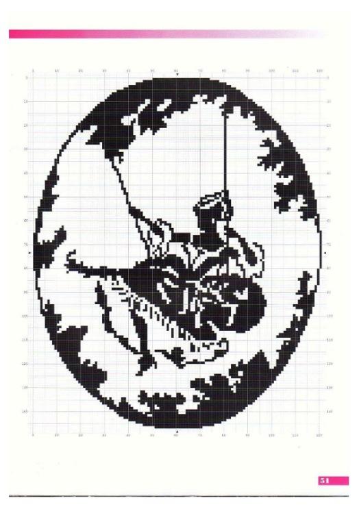 Новая вышивка крестом монохром