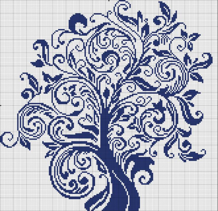 свой цитатник или сообщество!  Синее денежное дерево вышивка.  Tanya_Simonova.  Цитата сообщения.