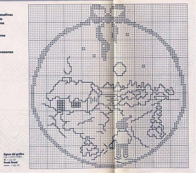 Простые однотонные схемы для вышивки крестом