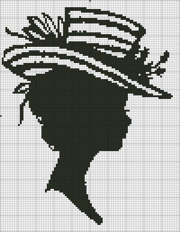 Схема вышивки черный силуэт