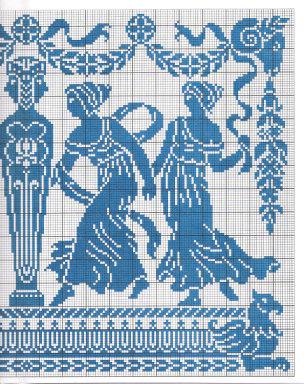Вышивка крестом схемы древняя греция
