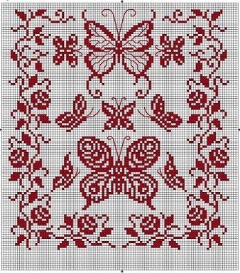 Схемы для вышивки крестом.  Монохром-4 (179 фото).  Прочитать целикомВ.