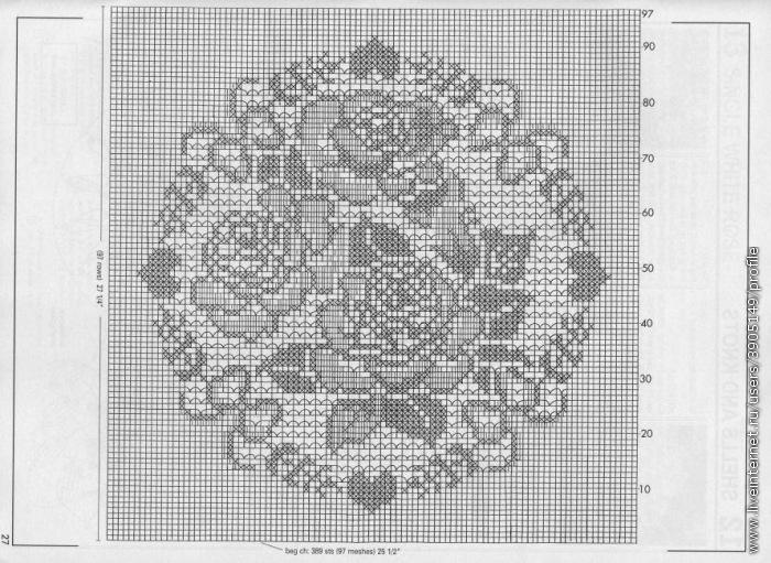 Маленькие салфетки крючком схемы филейное вязание