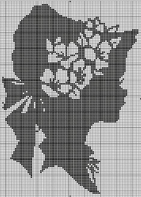 свой цитатник или сообщество!  Схемы для вышивки крестом.  Монохром-1 (198 фото).  Прочитать целикомВ.