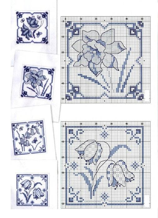 Схемы вышивки крестом миниатюры монохром 47