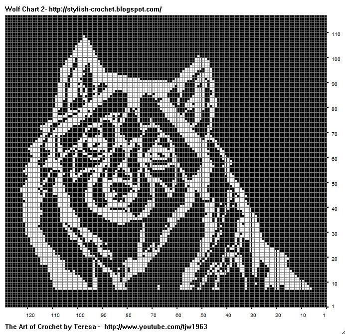 Схема для вышивки белые волки 47