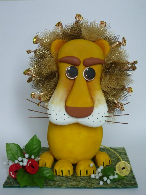 Лев из конфет мастер класс