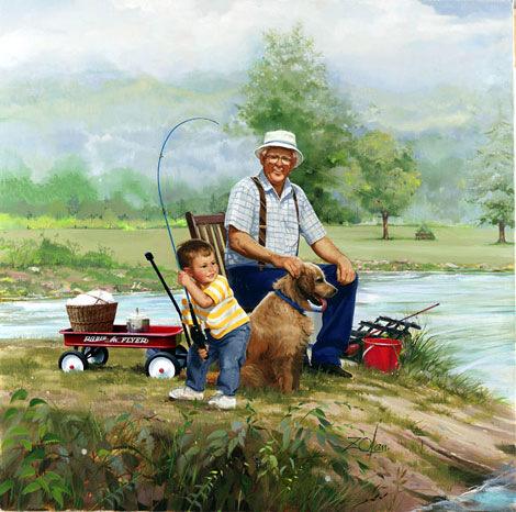 мультфильмы про рыбака и внука