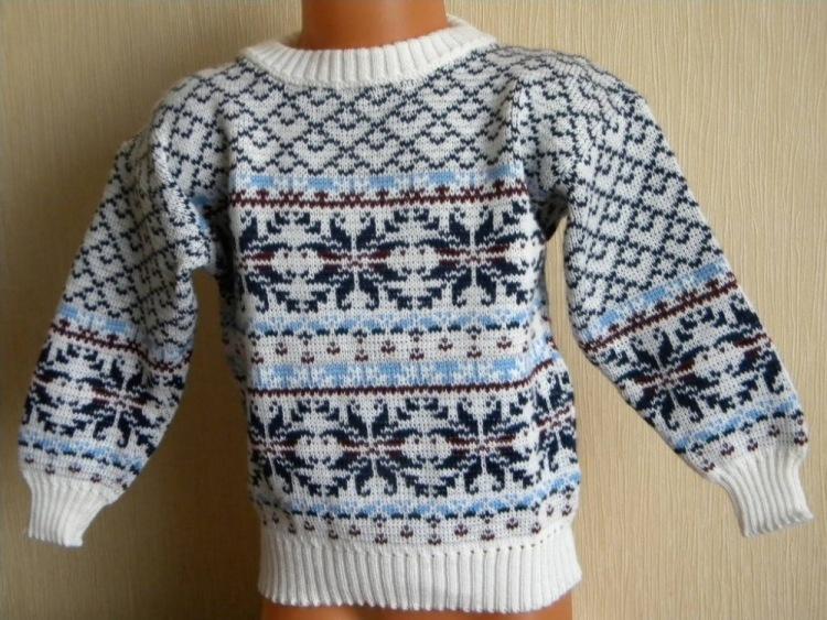 свитер с норвежским узором Олени. Свитер с норвежскими узорами