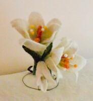 Мастер-класс по валянию - цветы, бабочки, шапочки-панамы.