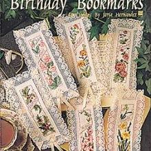 Схемы для вышивания - Birthday Bookmarks.  Закладки для книг.