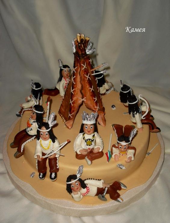 Индейцы торты фото детские