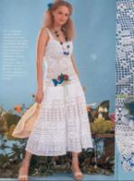 платье связанное крючком.Схема. красивые и оригинальные платья крючком.