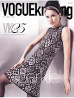 22 Жаккардовое платье от Vogue Knitting. Скрытый текст. Необходимо зарегистрироваться