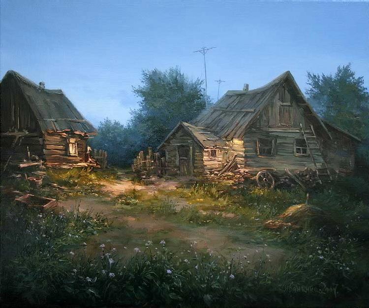 - Paisajes de casas de campo ...
