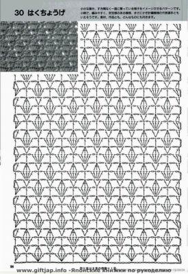 Схемы расширения полотна при вязании крючком