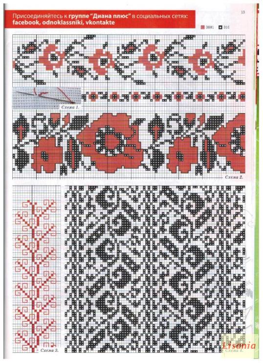 схемы вышивки вышиванка