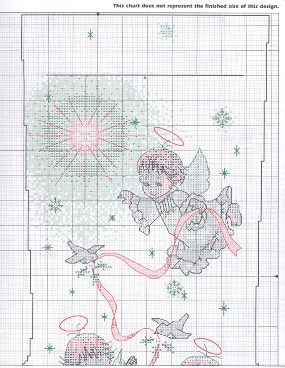 Новогодний сапожек вышивка крестиком