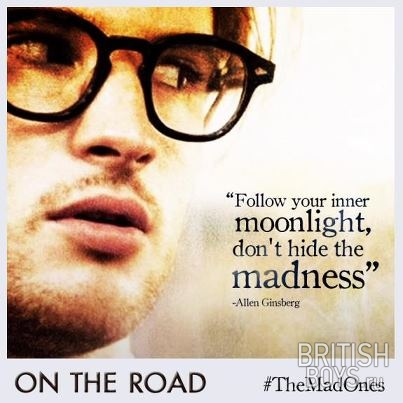 On The Road: Carlo Marx (Tom Sturridge) and Dean Moriarty (Garrett ...