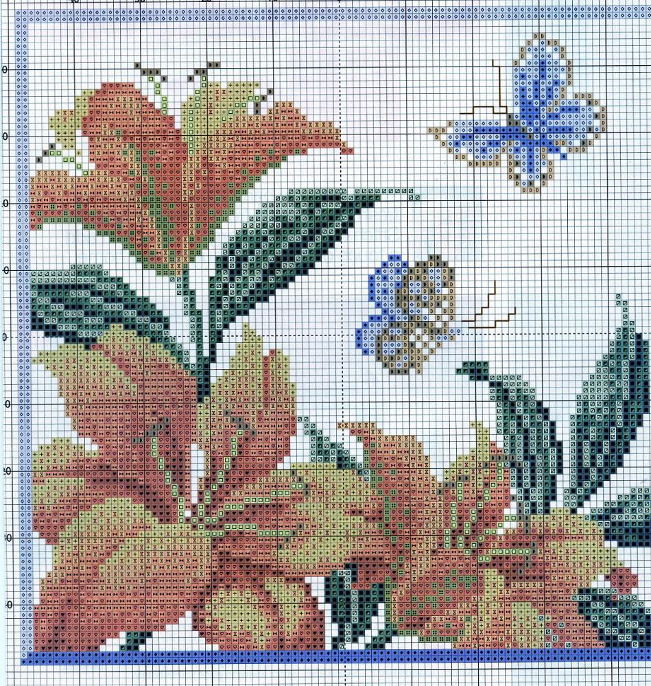 Схемы вышивки «лилии» (стр. 1) - Вышивка крестом