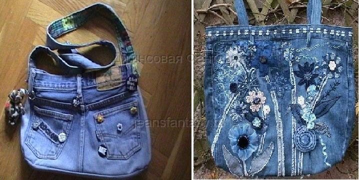 Декор для джинсовой сумки