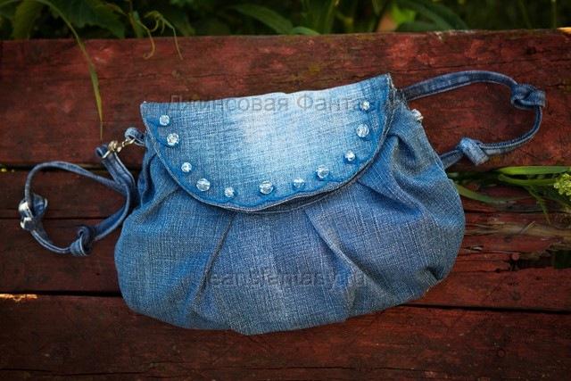 Описание: b Джинсовая сумка. . Спасибо девушкам с Осинки, из любимой темы для маленьких девушек